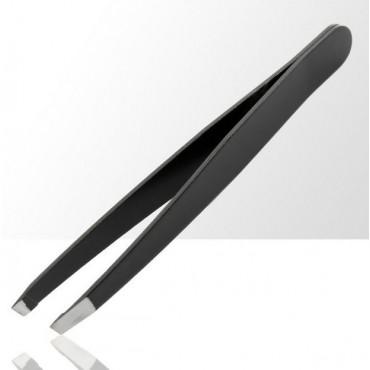 ASM kozmetická pinzeta zkosená čierna