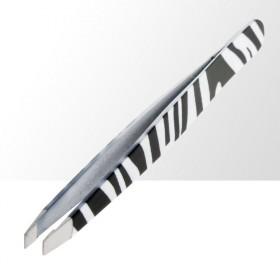 ASM kosmetická pinzeta zkosená zebra