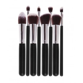 8 Ks Kabuki kosmetických štětců černé