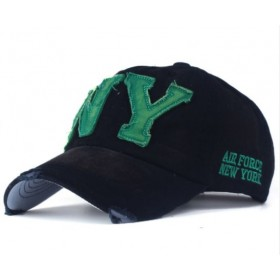 ANG-E šiltovka s nápisom NY - černo zelená