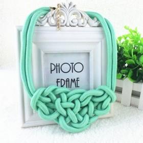 Bavlněný náhrdelník Shourouk zelený