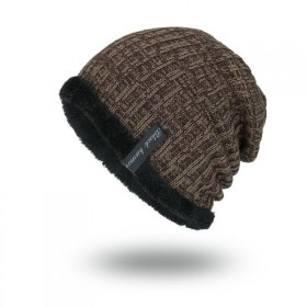 Black human pánska zimná čiapka Hnedá