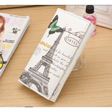 Dámská peňaženka s motivom miest Paríž motýľ