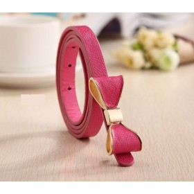 Dámský opasok s mašľou růžový