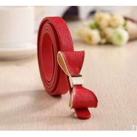 Dámský opasok s mašľou červený