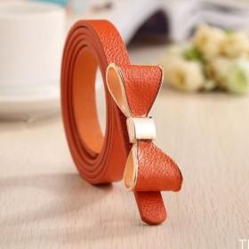 Dámský opasok s mašľou oranžový