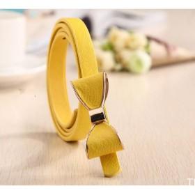 Dámský opasok s mašľou žlutý
