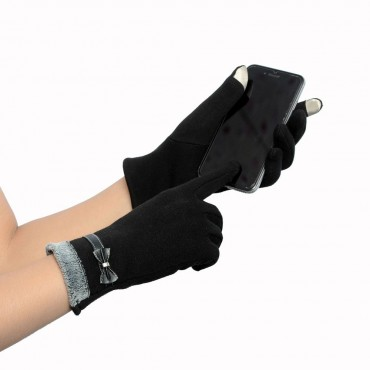 Dámske elegantné rukavice čierne