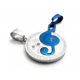 Double přívěšek Music Symbol - modrý