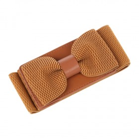 Hnedý elastický dámský opasok s prackou