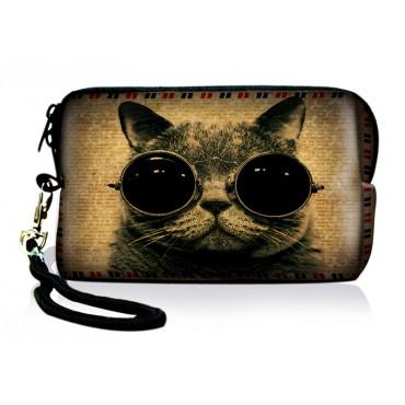 Huado kozmetické púzdro Mačka s okuliarrmi