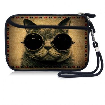 Huado kozmetické púzdro Mačka s okuliarmi