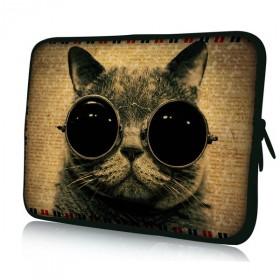 """Huado pouzdro na notebook 17.4"""" Mačka s okuliarmi"""