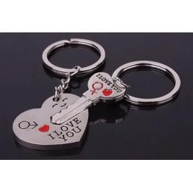 Kľúčenka pre dvoch I LOVE YOU srdce kľúč