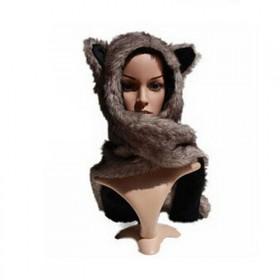 Chlupatá čiapka Funky Animal - Medveď