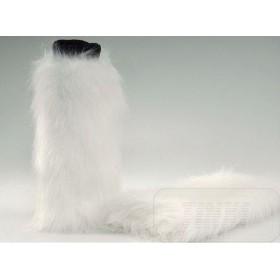 Kožešinové návleky na boty bílé 40 cm