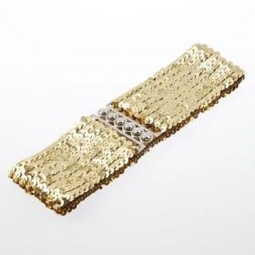 Módný opasok s flitry zlatý