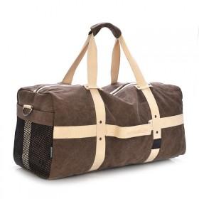 MJH plátená cestovná taška 40l hnedá