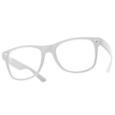 Nedioptrické okuliare wayfarer bíle 2 akosť