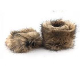 Návleky na boty z umělé kožešiny - 15cm
