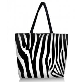 Nákupná a plážová taška Huado - Zebra