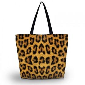 Nákupná a plážová taška Huado - Leopard