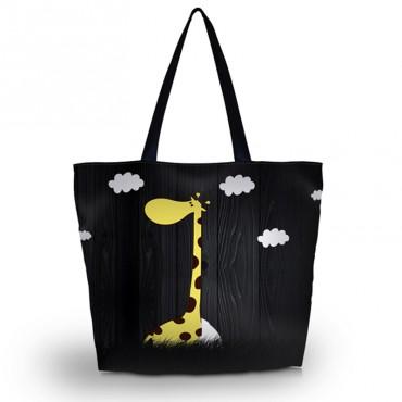 Nákupná a plážová taška Huado - Žirafa