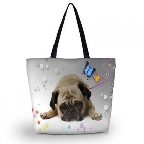 Nákupná a plážová taška Huado - Mops