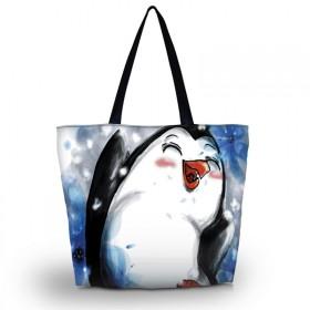 Nákupná a plážová taška Huado - Tučniak