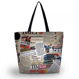 Nákupná a plážová taška Huado - Noviny