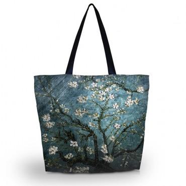 Nákupná a plážová taška Huado - Modrá čerešňa