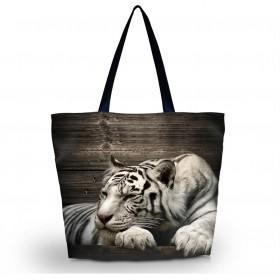 Nákupná a plážová taška Huado - Tiger sibirský