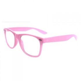 Nedioptrické okuliare wayfarer ružové