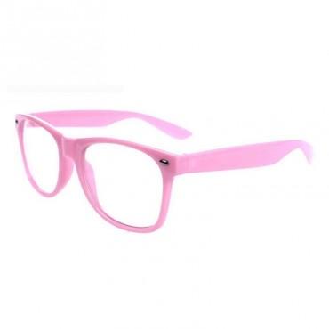 Nedioptrické okuliare wayfarer ružové 2. akosť