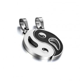 Oceľové prívesky pre dvoch Tai chi symbol