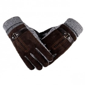 Pánské zateplené rukavice Bobby hnedé