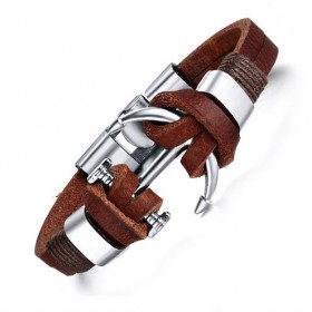 Pánský kožený náramok Kotva