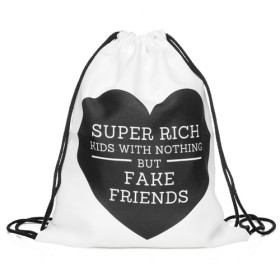 Plátený batoh s 3D potlačou Richy Rich