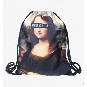 Plátený batoh s 3D potlačou Trust Mona