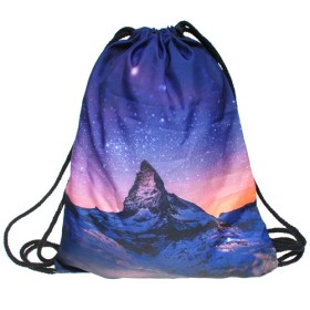 Plátený batoh s 3D potlačou Chill night