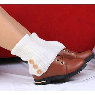 Pletené návleky na nohy biele 40 cm