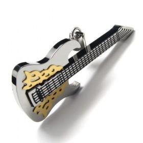 Prívesok gitara Metal chirurgické oceli