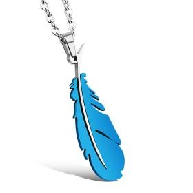 Prívesok Pero z chirurgickej oceli -modré
