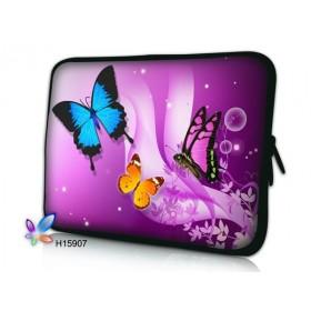"""Púzdro Huado na notebook do 10.2"""" Motýle vo fialovej"""