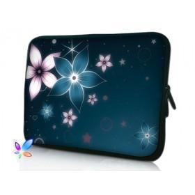"""Púzdro Huado na notebook do 10.2"""" Modré kvety"""