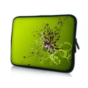 "Púzdro Huado na notebook do 10.2"" Zelený rozkvet"