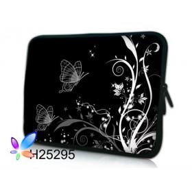 """Púzdro Huado na notebook do 12.1"""" Černobiele motýle"""