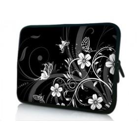 """Púzdro Huado na notebook do 12.1"""" Kvetinky a motýle"""