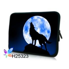 """Púzdro Huado na notebook do 12.1"""" Vlk vyjúci na mesiac"""
