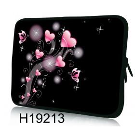 """Púzdro Huado na notebook do 12.1"""" Ružové srdiečka"""